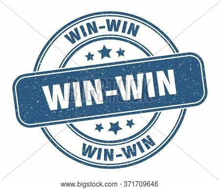 Win-win Stamp. Win-win Label. Round Grunge Sign