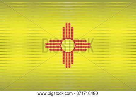 Shiny Grunge Flag Of The New Mexico - Illustration,  Three Dimensional Flag Of New Mexico