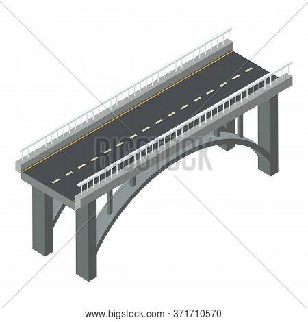 Aqueduct Bridge Icon. Isometric Of Aqueduct Bridge Vector Icon For Web Design Isolated On White Back