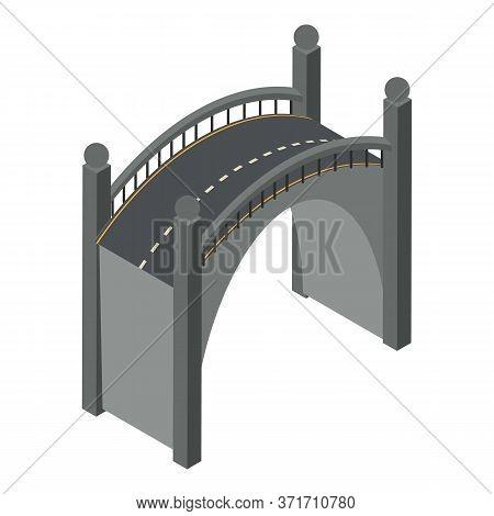 Modern Bridge Icon. Isometric Of Modern Bridge Vector Icon For Web Design Isolated On White Backgrou