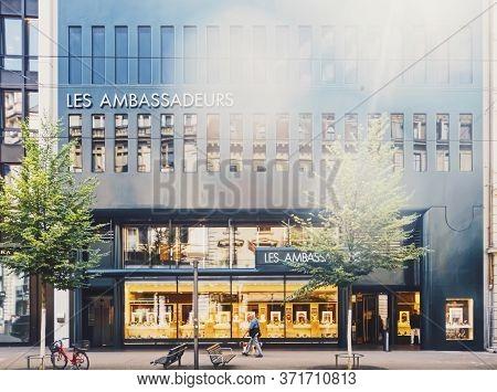 Zurich, Switzerland Circa September, 2019: Bahnhofstrasse In Zurich, Switzerland, Main Downtown Stre