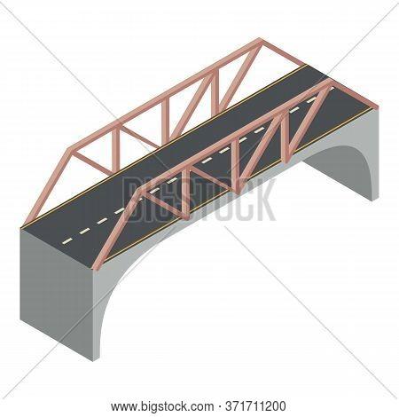 Travel Bridge Icon. Isometric Of Travel Bridge Vector Icon For Web Design Isolated On White Backgrou