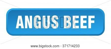 Angus Beef Button. Angus Beef Square 3d Push Button