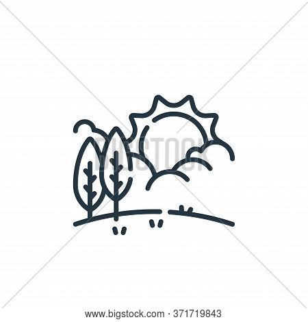 weather icon isolated on white background from  collection. weather icon trendy and modern weather s