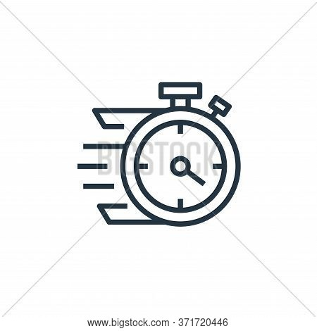 quick icon isolated on white background from  collection. quick icon trendy and modern quick symbol