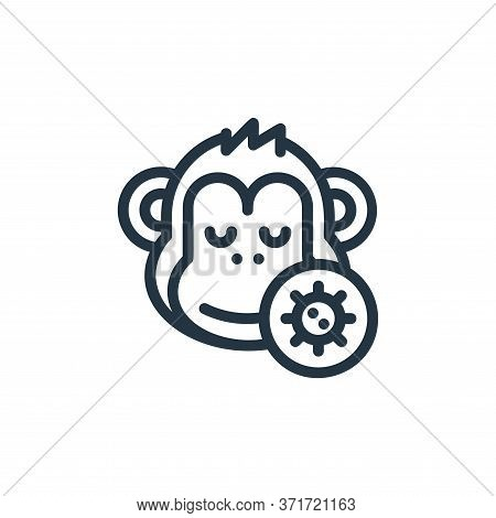 monkey icon isolated on white background from  collection. monkey icon trendy and modern monkey symb