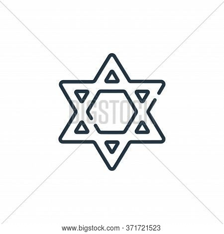 Judaism Vector Icon Isolated On White Background.