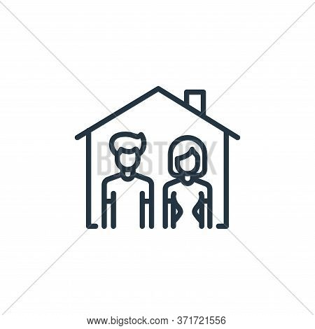 stay at home icon isolated on white background from  collection. stay at home icon trendy and modern