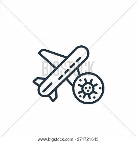 plane icon isolated on white background from  collection. plane icon trendy and modern plane symbol