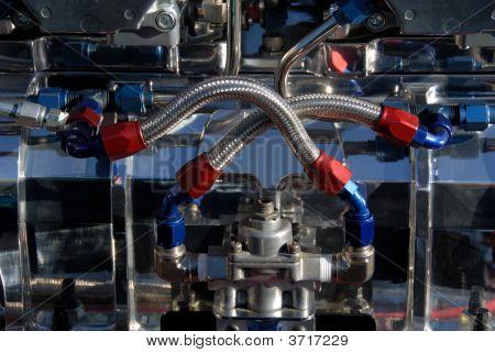 Fuel Lines On Hotrod Engine