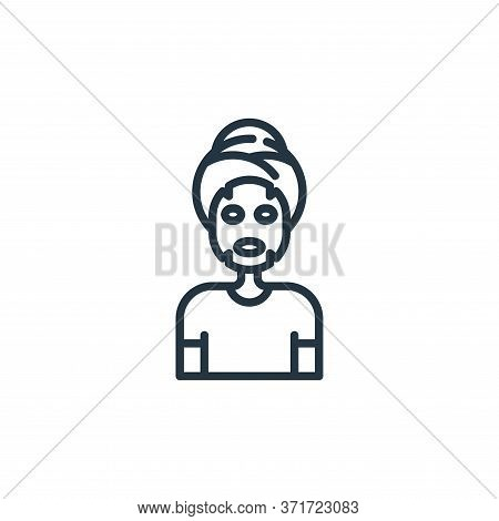 facial mask icon isolated on white background from  collection. facial mask icon trendy and modern f