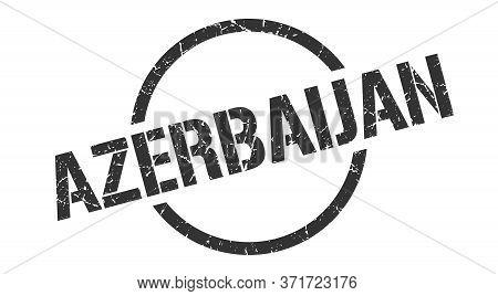 Azerbaijan Stamp. Azerbaijan Grunge Round Isolated Sign