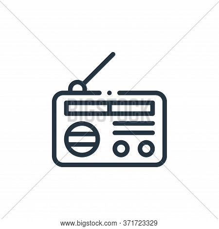 radio icon isolated on white background from  collection. radio icon trendy and modern radio symbol