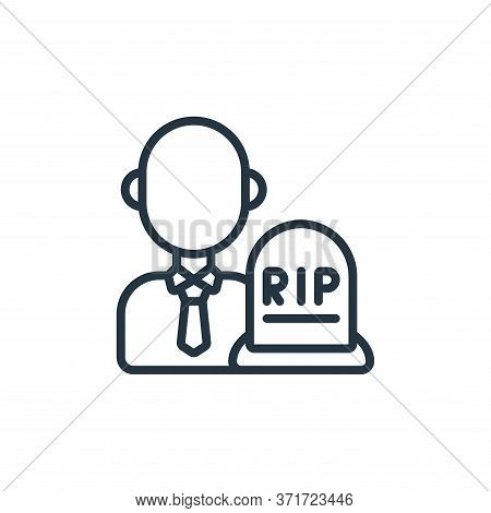 Undertaker Vector Icon Isolated On White Background.