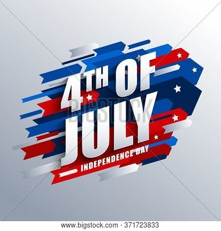 4th Of July Vector Graphic For Usa Independence Day Banner.