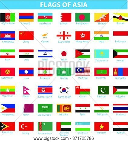 Flag Of Asia  Flag Asia Palestine Isolated
