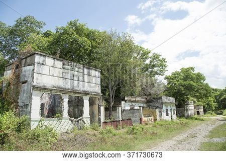 Armero, Colombia - November 08, 2016. Ruins Of The Armero Tragedy. It Was A Natural Disaster Resulti