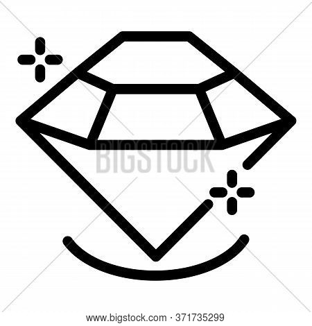 Gem Diamond Icon. Outline Gem Diamond Vector Icon For Web Design Isolated On White Background