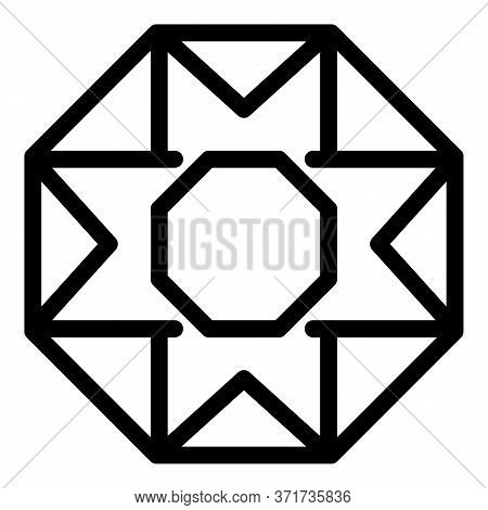 Precious Gemstone Icon. Outline Precious Gemstone Vector Icon For Web Design Isolated On White Backg