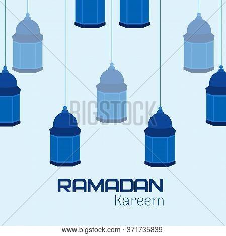 Ramadan Background, Ramadan Kareem,illustration With Lanterns, Vector Illustration, Ramadan 2020-114