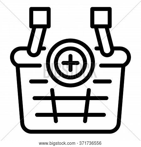 Supply Basket Icon. Outline Supply Basket Vector Icon For Web Design Isolated On White Background