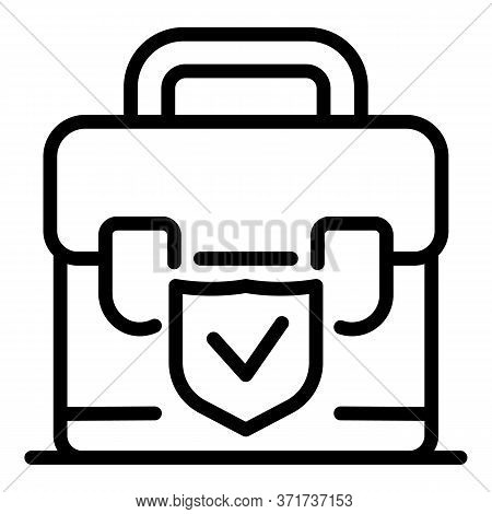 Check Suitcase Icon. Outline Check Suitcase Vector Icon For Web Design Isolated On White Background