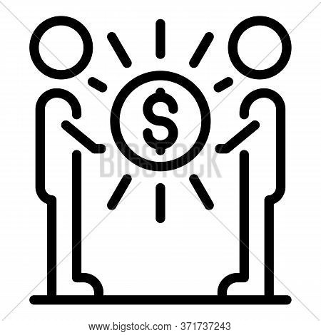 Money Agreement Icon. Outline Money Agreement Vector Icon For Web Design Isolated On White Backgroun