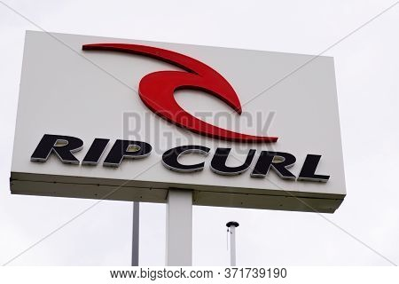 Bordeaux , Aquitaine / France - 11 18 2019 : Ripcurl Store Logo Surf Skate Clothes Boardshort Sign S