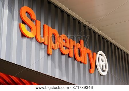 Bordeaux , Aquitaine / France - 09 24 2019 : Superdry Store Sign Shop Uk Britain Branded Clothing Co