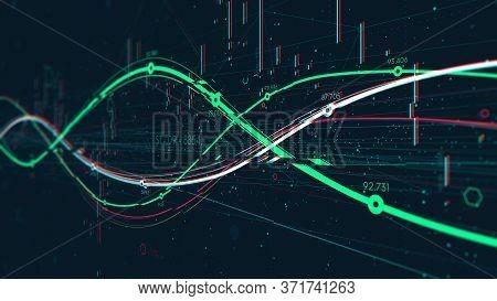 Statistics Big Data Analytics Indicators, Business Strategy Digital Graph Indicating Progress, Monit