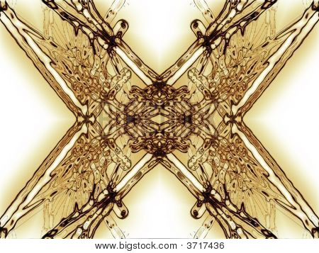 unknown fantasy alien computer generated in white background abstract poster
