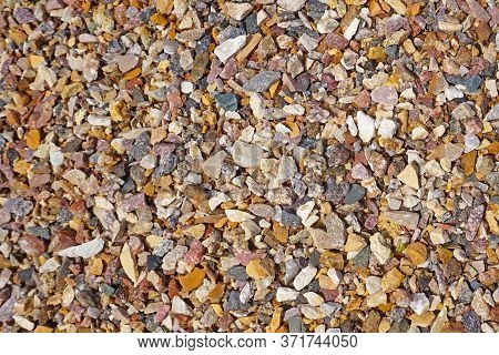 Colorful Pebbles. Small Stones Gravel Texture Background.