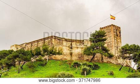 Sohail Castle In Fuengirola, Malaga Spain. Tourist Attraction. Holidays On Costa Del Sol.