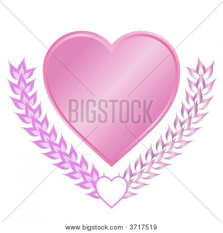 Romantic Heart With Leaves