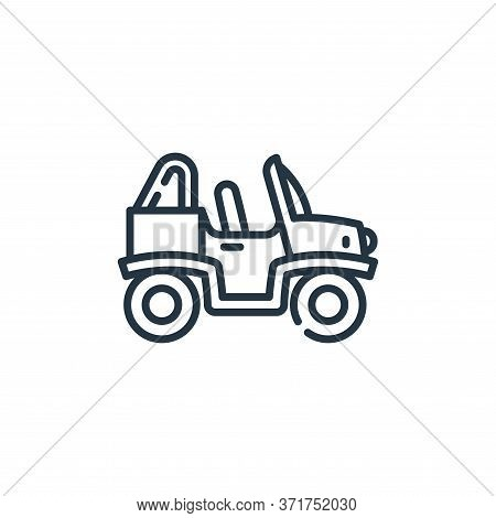 Buggy Vector Icon Isolated On White Background.