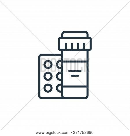 medicine icon isolated on white background from  collection. medicine icon trendy and modern medicin