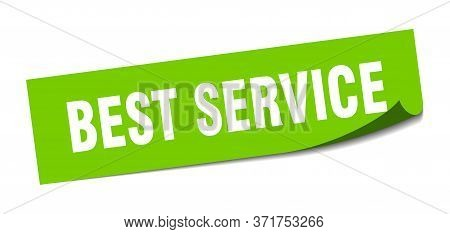 Best Service Sticker. Best Service Square Isolated Sign. Best Service