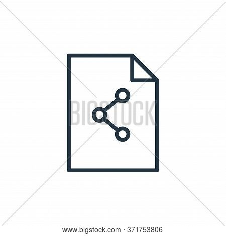 share icon isolated on white background from  collection. share icon trendy and modern share symbol