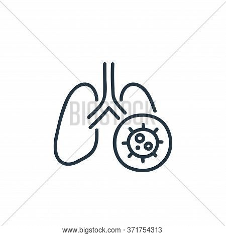 lung icon isolated on white background from  collection. lung icon trendy and modern lung symbol for