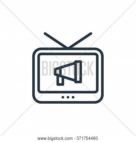 television icon isolated on white background from  collection. television icon trendy and modern tel