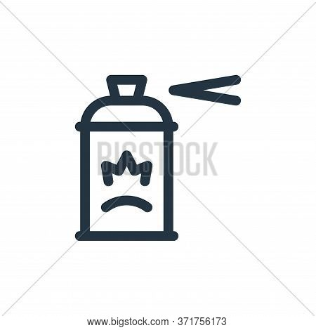 spray paint icon isolated on white background from  collection. spray paint icon trendy and modern s