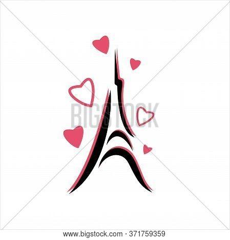 Paris - Eiffel Tower, Eiffel Love, Logo Design Inspiration