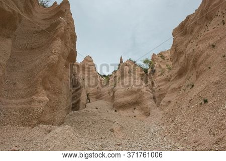 View Of The Lame Rosse, The Big Canyon Of The Marche Region In The National Park Of Monti Sibillini