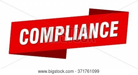 Compliance Banner Template. Compliance Ribbon Label Sign