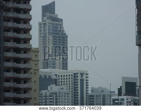 Bangkok Thailand-13 May 2019:landscape Of Central Bangkok, Asoke Area And Phrom Phong Area.on Bangko