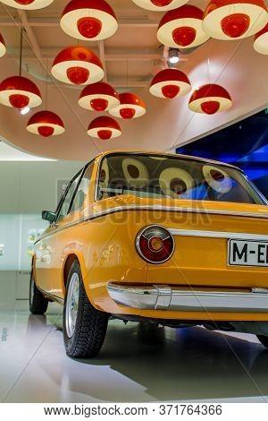 Munich, Germany - June 27, 2013: Bmw 2002 Ti Car At Bmw Welt (bmw World) In Munich, Germany, Bmw Wel