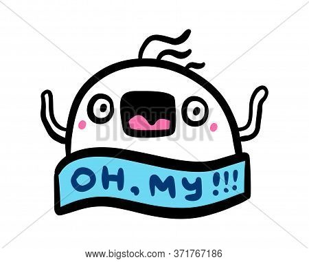Oh My Excited Man Hand Drawn Vector Illustration In Cartoon Comic Style Man Crazy Surprised