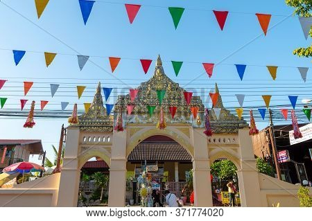 Loei Chiang Khan  Thailand-07 December 2019:wat Si Khun Temple Was Built In 2199 B.e., Located At 37