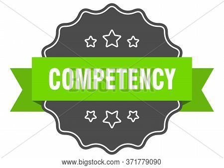 Competency Isolated Seal. Competency Green Label. Competency