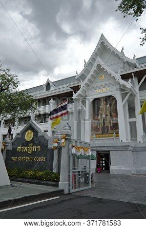 Supreme Court Of Thailand Bangkok Thailand-02 September 2019:the Supreme Court Of Thailand Located I